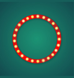 red light circle frame background vector image