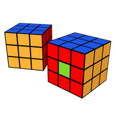 Rubik cube toy or color vector