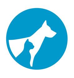 Safe guard sign pet dog cat animals portrait vector