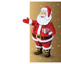 Santa Claus Cartoon Character Showing in Blank vector