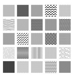 seamless wavy line pattern big set vector image