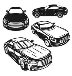 set cars design elements for logo label vector image