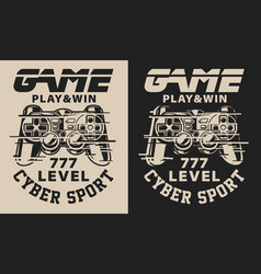 Set on gaming theme vector