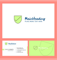 Sheild logo design with tagline front and back vector