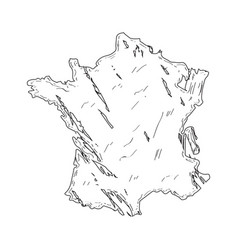 sketch of a map of france vector image