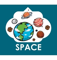 Space icons design vector image