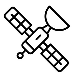 Space satellite icon outline style vector