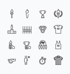 sport icons flat line design vector image