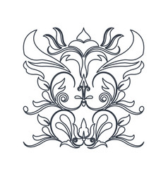 Swirl vintage baroque ornament style line vector