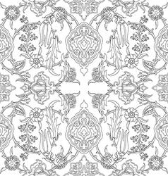 tile oriental floral seamless doodle ethnic patter vector image