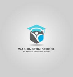 University degree logo free design vector