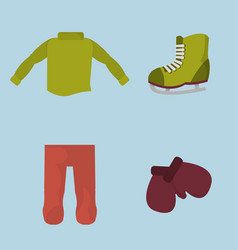 winter boy clothes to cold weather vector image