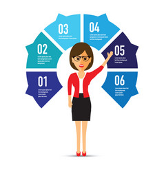 woman in front of a chart vector image