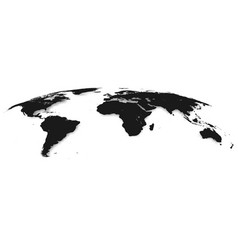 world map isolated on white background in gray vector image