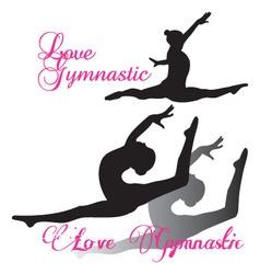 Gymnastic gymnast Silhouettes set vector image