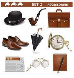 Male Accessories Set 2 vector image