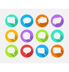 White speech bubbles vector image vector image