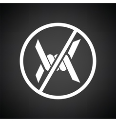 Barbed wire icon vector