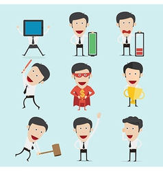 Businessman character set version2 vector image