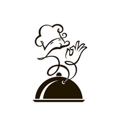 dish and cook vector image vector image