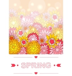 Hand drawn spring lettering vector image
