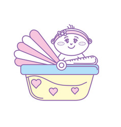 security seat with baby child inside vector image vector image