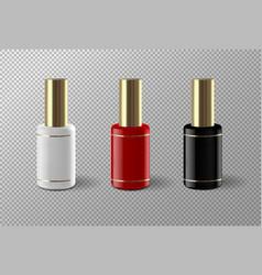 Set of realistic nail polish package vector
