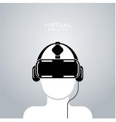 virtual reality headset icon flat design vector image vector image