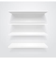 White shelves vector image vector image