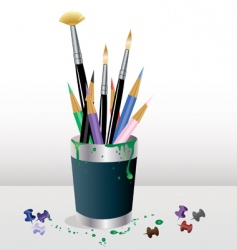art supplies vector image