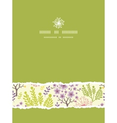 Blossoming trees vertical torn frame seamless vector image vector image