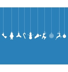 Christmas decorations of paper tape Silhouette vector image