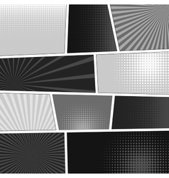 Comics popart style blank layout template vector image