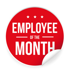employee of the month label sticker vector image