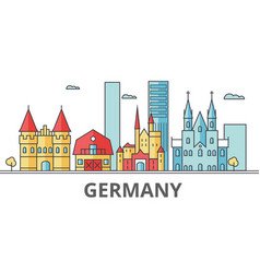 germany city skyline buildings streets vector image