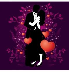 Valentine's couple vector image vector image