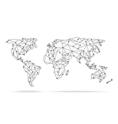 World Map polygonal precision low-poly vector image
