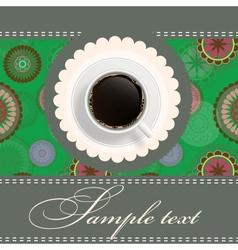 coffee invitation background vector image