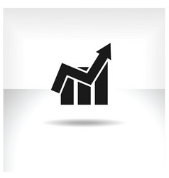 financial graph web icon vector image