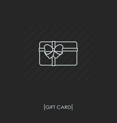 gift card outline icon isolated vector image vector image