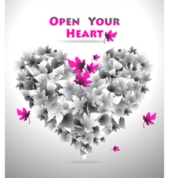 Open Your Heart vector image vector image