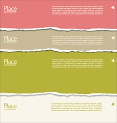 Torn paper background with space for text vector image