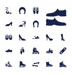 22 shoe icons vector