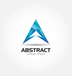 abstract blue letter a logo symbol icon vector image