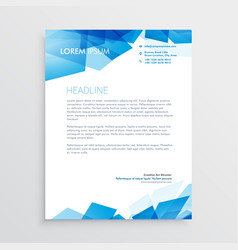 Abstract blue letterhead design template vector