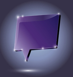 Abstract metal speech bubble purple on a dark vector image