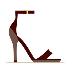 ankle strap scarlet shoe isolated vector image vector image