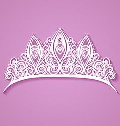 Artistic crown design vector