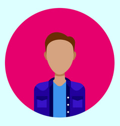 Avatar profile icon male faceless user on colorful vector