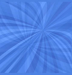 Blue curved ray burst background vector